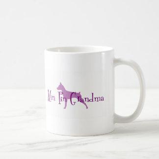 Avó do Pinscher diminuto Caneca De Café