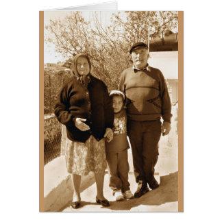 Avós orgulhosas cartão comemorativo