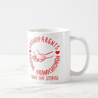 Avós que aumentam netos caneca de café
