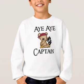 Aye Aye o pirata do urso do capitão ursinho caçoa T-shirts