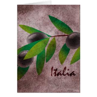 Azeitonas de Italia Cartão Comemorativo