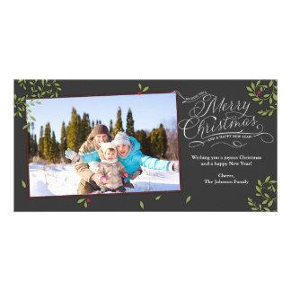 Azevinho do Feliz Natal Cartão Com Foto