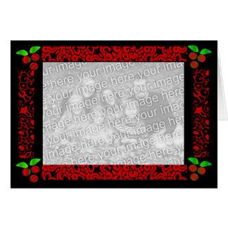 Azevinho do Natal no vermelho