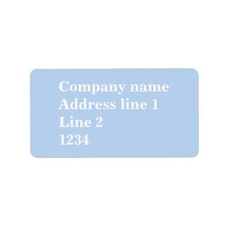 Azuis bebés etiqueta de endereço