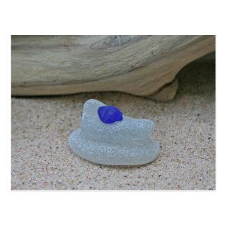 Azuis cobaltos e branco raros cartão postal