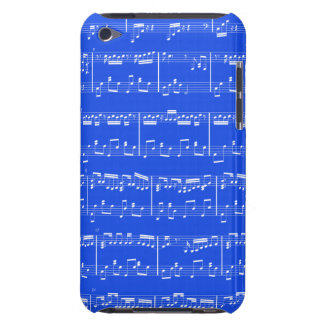 Azuis marinhos do ipod touch da partitura capa para iPod touch