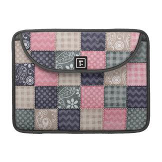 Azuis marinhos, rosa, Tan, e olhar bonito cinzento Bolsa Para MacBook