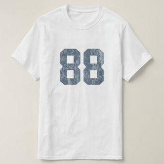 Azul 88 desvanecido sujo tshirt