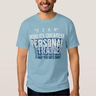 AZUL A5 engraçado do grande instrutor pessoal dos Camiseta
