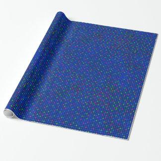 Azul abstrato papel de envolvimento colorido do papel de presente