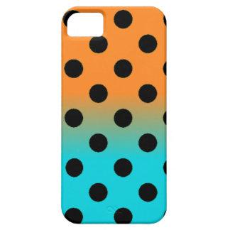 Azul alaranjado capas para iPhone 5