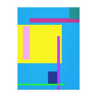 Azul artístico de Dodger do espaço Impressão De Canvas Esticada