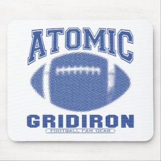 Azul atômico da grelha mouse pads