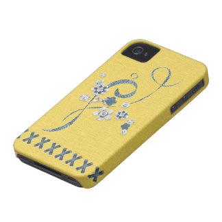 Azul BlackBerryBold do Cornflower da manteiga do iPhone 4 Capa