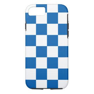 Azul Checkered Capa iPhone 8/7
