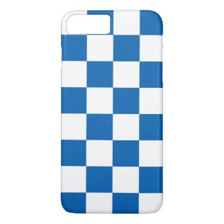 Azul Checkered Capa iPhone 8 Plus/7 Plus