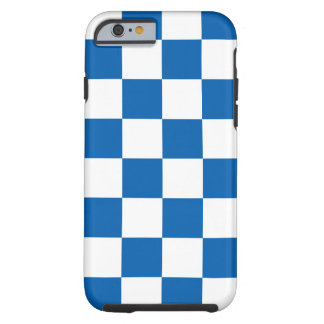 Azul Checkered Capa Tough Para iPhone 6