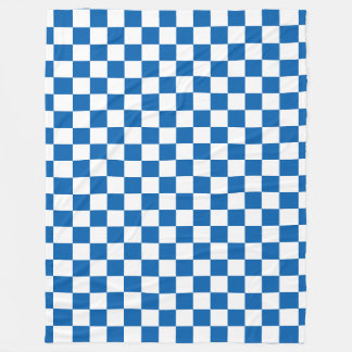 Azul Checkered Cobertor De Lã