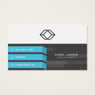 Azul cinzento do design abstrato - cartão de