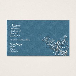 Azul clássico cartão de visitas