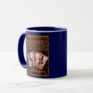 Azul da caneca de café da reunião de Vaughn da