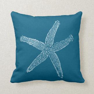 Azul da cerceta da ilustração da estrela do mar do almofada