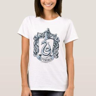 Azul da crista de Slytherin T-shirts