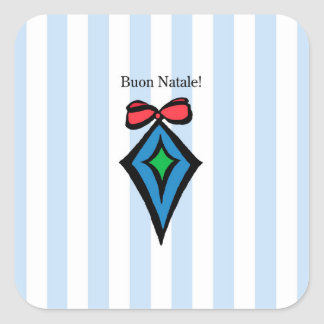 Azul da etiqueta do ornamento do diamante de Buon