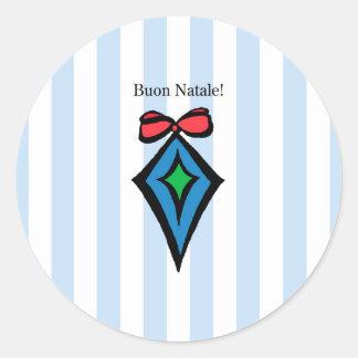 Azul da etiqueta do ornamento do diamante de Buon Adesivo