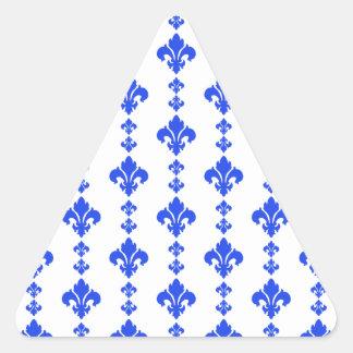 Azul da flor de lis 3 adesivos triângulo