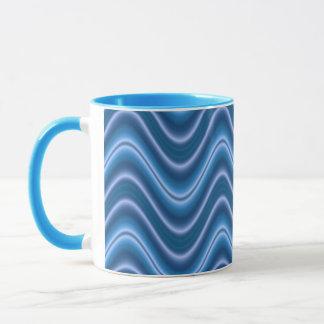 azul da onda caneca