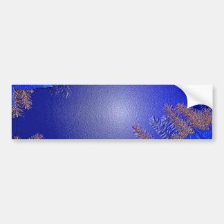 Azul da poinsétia do Natal Adesivo