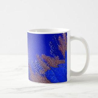 Azul da poinsétia do Natal Caneca