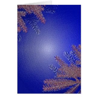 Azul da poinsétia do Natal Cartoes