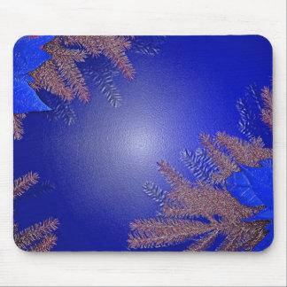 Azul da poinsétia do Natal Mousepad