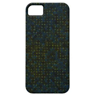 Azul de Círculos del verde Capa Barely There Para iPhone 5