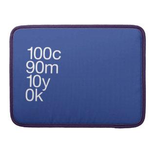 Azul de CMYK Bolsas MacBook Pro