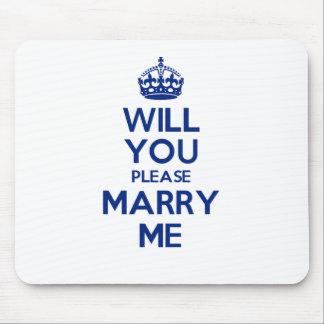 Azul de MarryMe no branco Mousepad