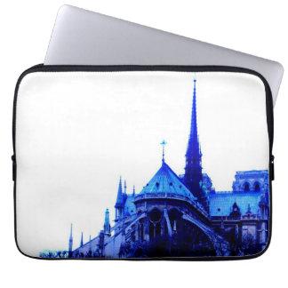 Azul de Notre Dame Capas Para Laptop