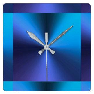 Azul de turquesa metálico moderno minimalista relógios de pendurar