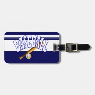 Azul do basebol tag de bagagem