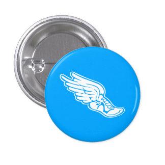 Azul do botão do logotipo da trilha boton