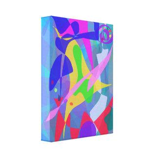 Azul do carnaval impressão de canvas esticadas