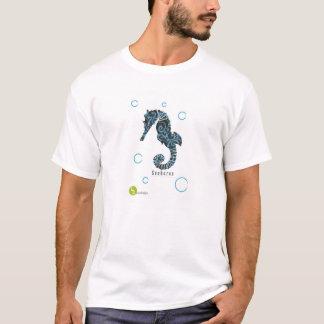 Azul do cavalo marinho t-shirt