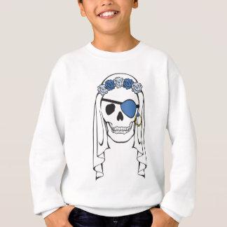 Azul do crânio do pirata da noiva agasalho