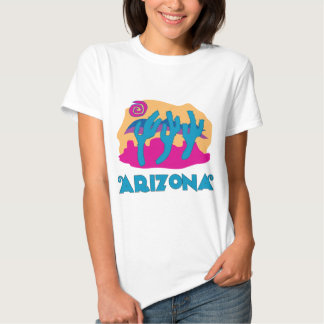 Azul do deserto da arizona tshirt