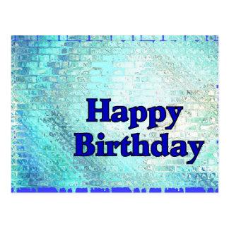 Azul do feliz aniversario cartão postal