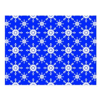 Azul do floco de neve 14 cartões postais
