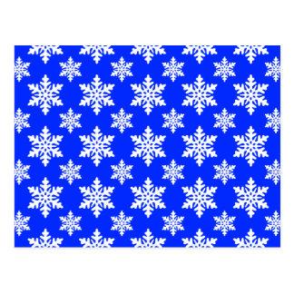 azul do floco de neve 1 cartão postal