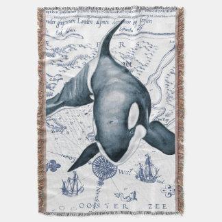 Azul do mapa da orca coberta